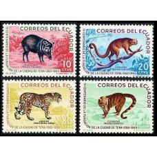1961 Ecuador Mi.1066-1069* Fauna 6,00 €
