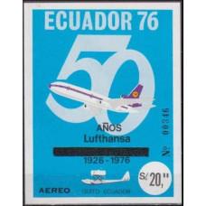 1976 Ecuador Mi.B69b Planes 30,00