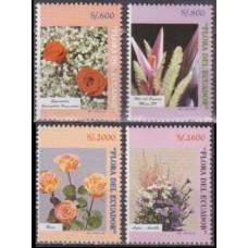 1998 Ecuador Mi.2386-2389 Flowers 9,50