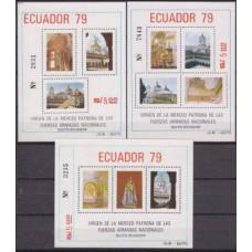 1980 Ecuador Mi.B91-B93 Church temples