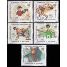 1988 El Salvador Mi.1702-1706 1988 Olympiad Seoul 3,50 €