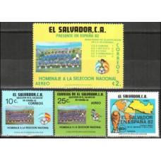 1982 El Salvador Mi.1386-1389 1982 World championship on football of Spanien 2.60