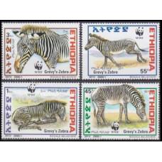 2001 Ethiopia Mi.1704-1707 WWF