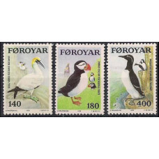 1978 Faroe Islands Mi.36-38 Sea birds 3.00 €