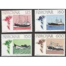 1977 Faroe Islands Mi.24-27 Ships 10.00 €