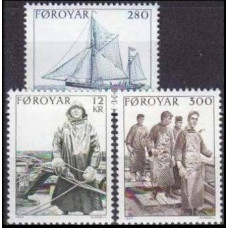 1984 Faroe Islands Mi.103-105 Ships with sails 6,00 €