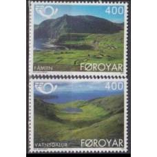 1995 Faroe Islands Mi.276-277 Landscape 3,00