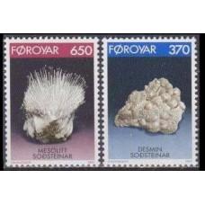 1992 Faroe Islands Mi.237-238 Minerals 3,50