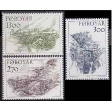 1986 Faroe Islands Mi.142-144 Landscape 9,00