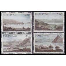 1985 Faroe Islands Mi.112-115 Landscape 6,00