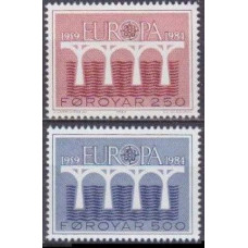 1984 Faroe Islands Mi.97-98 Europa 2,00