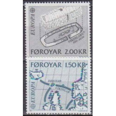 1982 Faroe Islands Mi.70-71 Landscape 1,00