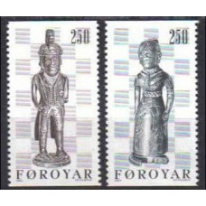 1983 Faroe Islands Mi.82-83 Chess 3,00