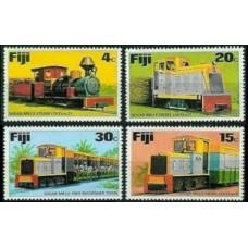 1976 Fiji Mi.348-351 Locomotives 6,00 €