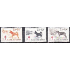 1965 Finland Mi.600-602 Dogs 6,00 €