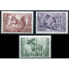 1953 Finland Mi.418-420 Fauna 7,50 €