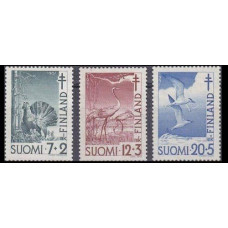 1951 Finland Ьш,396-398 Tuberculosis relief fund 6,50 €