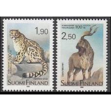 1989 Finland Mi.1087-1088 Cats 2,50 €