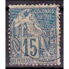 1881 France colonies Michel 50 used 2.00 €