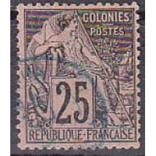 1881 France colonies Michel 52 used 3.00 €