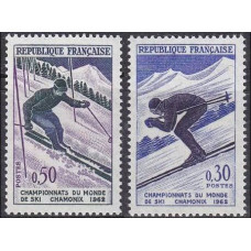 1962 France Mi.1379-80 Wintersport 1.00 €