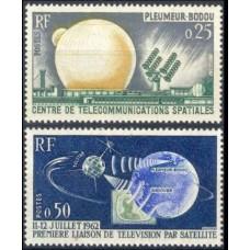 1962 France Mi.1413-14 Satellite