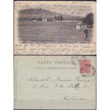 1904 France colonia ( Algeria) Postcard Batna - Le Village Ne`gre pris de la Route de Lambe`ze €
