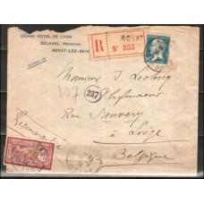 1924 France Cover Registered mail €