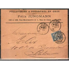 "1900 France cover cancel "" 3n 30s 11ABUT 00 €"