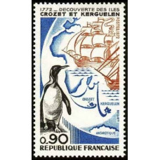 1972 France Mi.1780 Crozet Islands and Kerguelen 0,80 €
