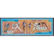 2000 France Mi.3481-82 2000 Olympics in Sydney 2,20