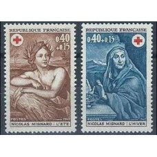 1969 France Mi.1692-1693 Red Cross 1,00
