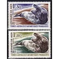 1980 French Antarctic Territory Mi.152-153 Sea fauna 3.50 €
