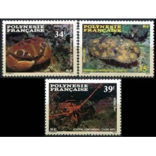 1987 French Polynesia Mi.473-475 Sea fauna 3,60 €