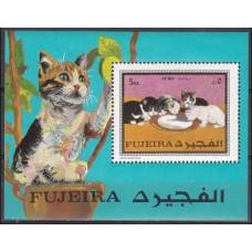1970 Fujeira Mi.593/B34 Cats 3.50 ?