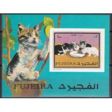 1970 Fujeira Mi.593/B34b Cats 5,00 €