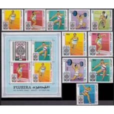 1968 Fujeira Mi.266-75+299-301/B9 1968 Olympic Mexico 15,50 €