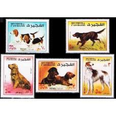1970 Fujeira Mi.602-606 Dogs