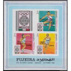 1968 Fujeira Mi.299-301/B9b 1968 Olympic Mexico 6,00 €