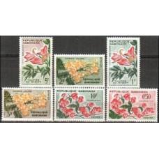 1961 Gabon(R.Cabonaise) Michel 160-165 Blumen 3.00 €