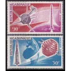 1966 Gabon(R.Cabonaise) Mi.244-245 Satellite A-1 2,80 €