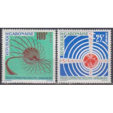 1963 Gabon(R.Cabonaise) Mi.185-186 Satellite 2,50