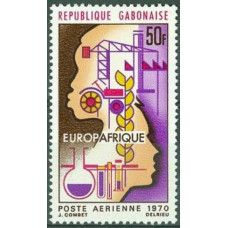 1970 Gabon(R.Cabonaise) Mi.362 EVROAFRICA 1,30