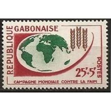 1963 Gabon(R.Cabonaise) Mi.181 WORLD CAMPAIGN AGAINST HUNGER 1,10