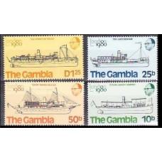 1980 Gambia Mi.406-409 Ships 2,60 €