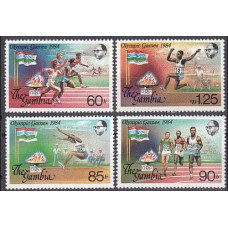 1984 Gambia Michel 531-534 1984 Olympiad Los Angeles 3.60 €