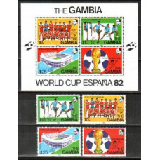 1982 Gambia Mi.441-444+441-444/B6 1982 World championship on football of Spanien 16,00 €
