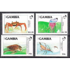 1984 Gambia Mi.544-547 Sea fauna 8,00 €