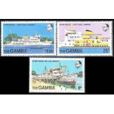 1978 Gambia Mi.378-380 Ships 2,80 €
