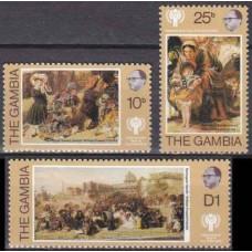 1979 Gambia Mi.387-389 Paintings 1,60 €